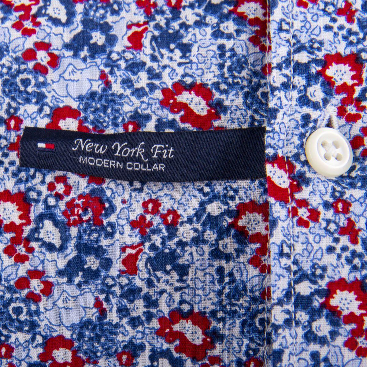 chemise bleu et rouge imprim u00e9 fleuri homme tommy hilfiger