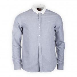 Chemise manches longues gris clair homme DEEPEND marque pas cher prix dégriffés destockage