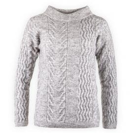 Pull gris maille torsadée femme Calvin Klein marque pas cher prix dégriffés destockage