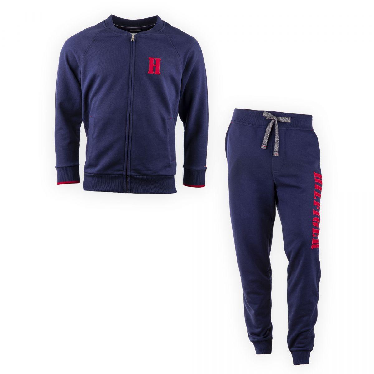 e2c006e01b510 Ensemble jogging bleu marine homme TOMMY HILFIGER marque pas cher prix  dégriffés destockage ...