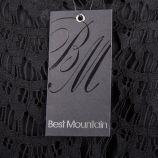 Robe patineuse noire en guipure femme Best Mountain marque pas cher prix dégriffés destockage