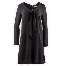 Robe noire col lavallière femme DDP marque pas cher prix dégriffés destockage