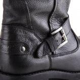 Bottine en cuir noir femme AGRA SOLID PEPE JEANS marque pas cher prix dégriffés destockage