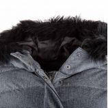 Doudoune gris anthracite capuche fourrée femme KARL MARC JOHN marque pas cher prix dégriffés destockage