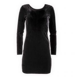Robe noire moulante en velours femme Best Mountain marque pas cher prix dégriffés destockage