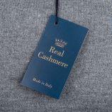 Pull laine cachemire col rond coudières homme REAL CASHMERE marque pas cher prix dégriffés destockage