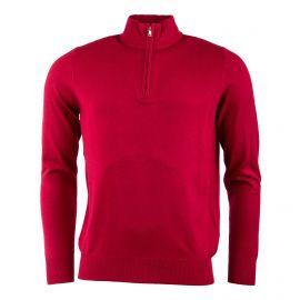 Pull laine cachemire col zippé coudières homme REAL CASHMERE marque pas cher prix dégriffés destockage