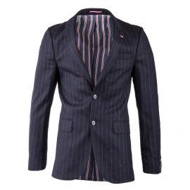 Veste de costume bleue foncé rayée avec coudières homme TOMMY HILFIGER