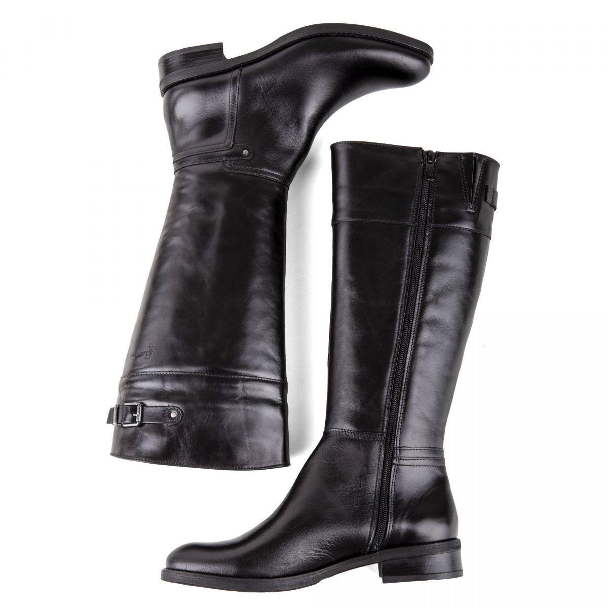 bottes en cuir noir femme d7687 si dorking prix d griff. Black Bedroom Furniture Sets. Home Design Ideas