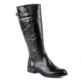 Bottes en cuir noir femme D7687-SI DORKING marque pas cher prix dégriffés destockage