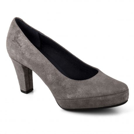 Escarpins en daim gris femme D5794-BU DORKING marque pas cher prix dégriffés destockage