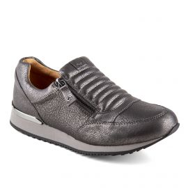 BASKET 24605-21 CUIR GREY METALLIC