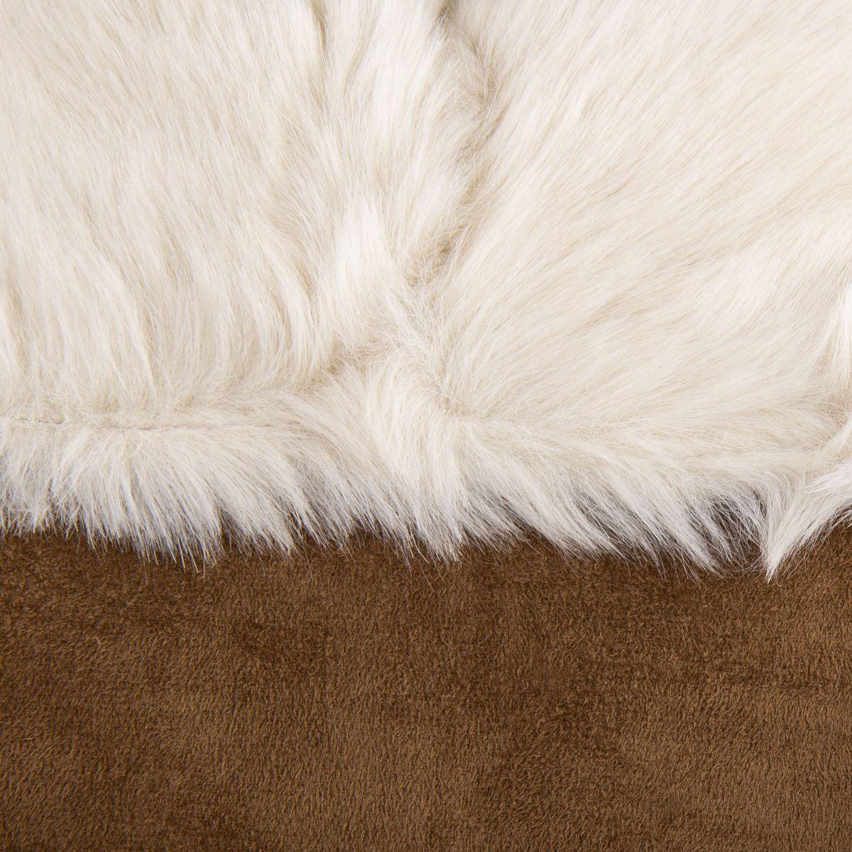 f0dc6edc2012 ... Manteau camel en suedine fausse fourrure femme Best Mountain marque pas  cher prix dégriffés destockage ...