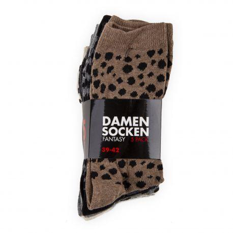 Pack de 5 paires de chaussettes femme DAMEN SOCKEN marque pas cher prix dégriffés destockage