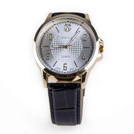 Montre noire cadran doré bracelet crocodile Homme CHRISTIAN LACROIX