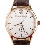 Montre marron bracelet cuir crocodile Homme CHRISTIAN LACROIX marque pas cher prix dégriffés destockage