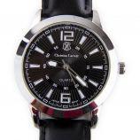 Montre bracelet en cuir noir Homme CHRISTIAN LACROIX marque pas cher prix dégriffés destockage