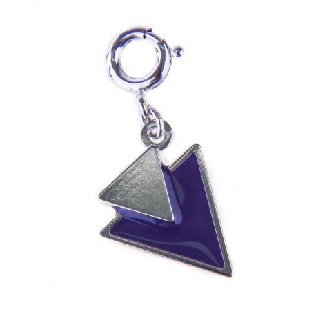 Pendentif charms émaillé en argent 925 Triangle femme KENZO marque pas cher prix dégriffés destockage