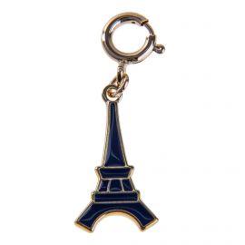 Pendentif charms émaillé en plaqué or Tour Eiffel femme KENZO marque pas cher prix dégriffés destockage