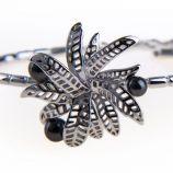 Bracelet Fleur en argent rhodié Femme KENZO marque pas cher prix dégriffés destockage
