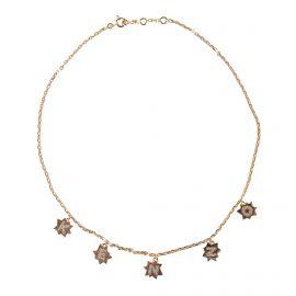 Collier chaîne ras de cou pendentifs étoiles plaqué or femme KENZO marque pas cher prix dégriffés destockage