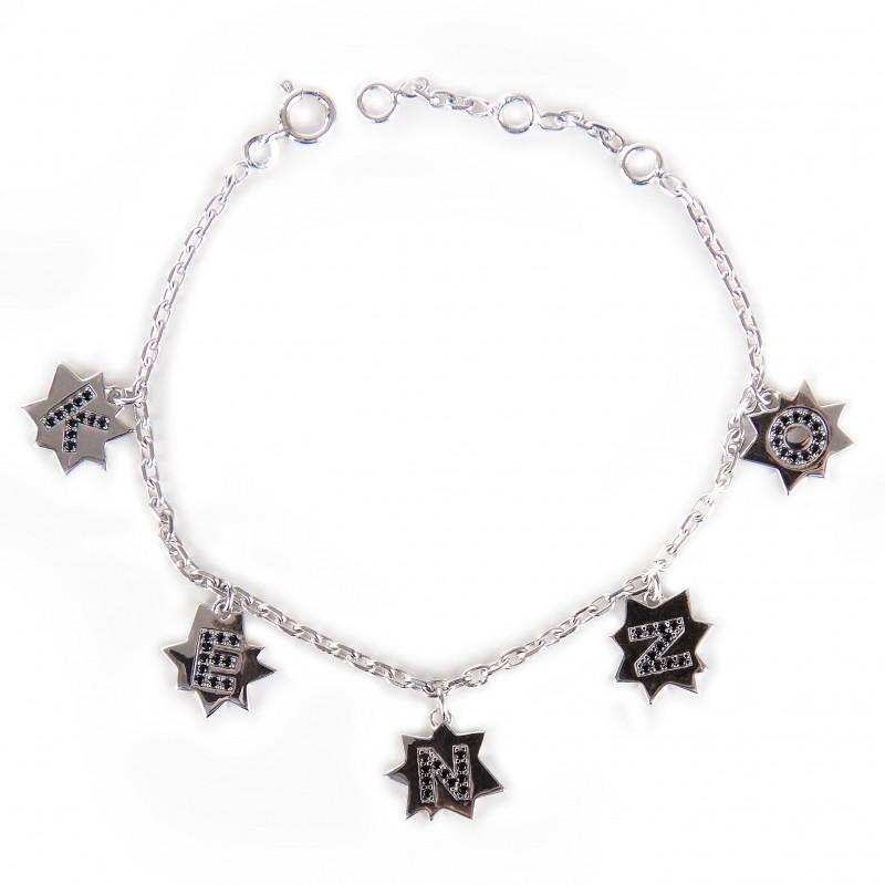 Bracelet étoiles argent rhodié femme KENZO marque pas cher prix dégriffés destockage