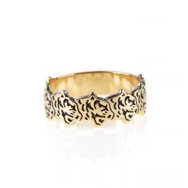 Bague anneau tête de tigre plaquée or femme KENZO