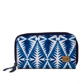 Portefeuille bleu imprimé double compartiment Femme Beach Bazaar Wallet RIP CURL marque pas cher prix dégriffés destockage