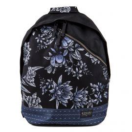 Sac à dos noir à fleurs Femme Zephyr Split Dome RIP CURL marque pas cher prix dégriffés destockage
