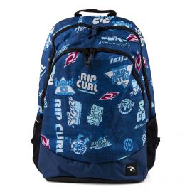 Sac à dos bleu imprimé homme Proschool Heritage Logo RIP CURL