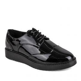 Chaussures Derby Alombert noires Femme GEORGES RECH marque pas cher prix dégriffés destockage