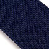 Cravate tricotée bleue marine Homme TOMMY HILFIGER marque pas cher prix dégriffés destockage