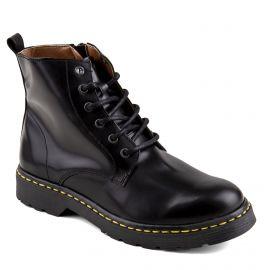 Boots noires cuir zip latéral Homme ORLANDO marque pas cher prix dégriffés destockage