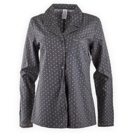 Haut de pyjama gris Femme CALVIN KLEIN marque pas cher prix dégriffés  destockage 96f588d8b10