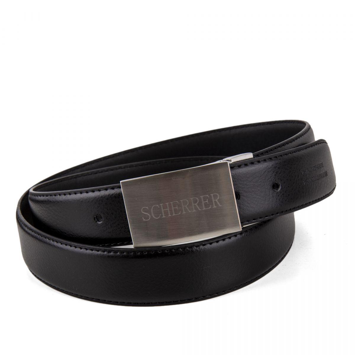 ... Coffret ceinture en cuir + 2 boucles Sandrino Homme SCHERRER marque pas  cher prix dégriffés destockage 007b00692f3