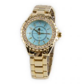 Montre ronde diamants bracelet maillons Femme KIM & JADE