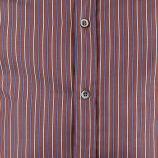 Chemise marron à rayures manches longues Homme PAUL & JOE marque pas cher prix dégriffés destockage