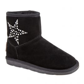Boots fourées noires Chacha Femme LES TROPEZIENNES marque pas cher prix dégriffés destockage