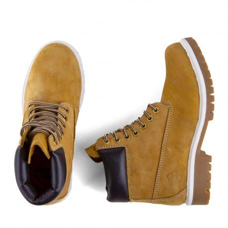 Chaussures Boots montantes camel Enfant ROADSIGN marque pas cher prix dégriffés destockage