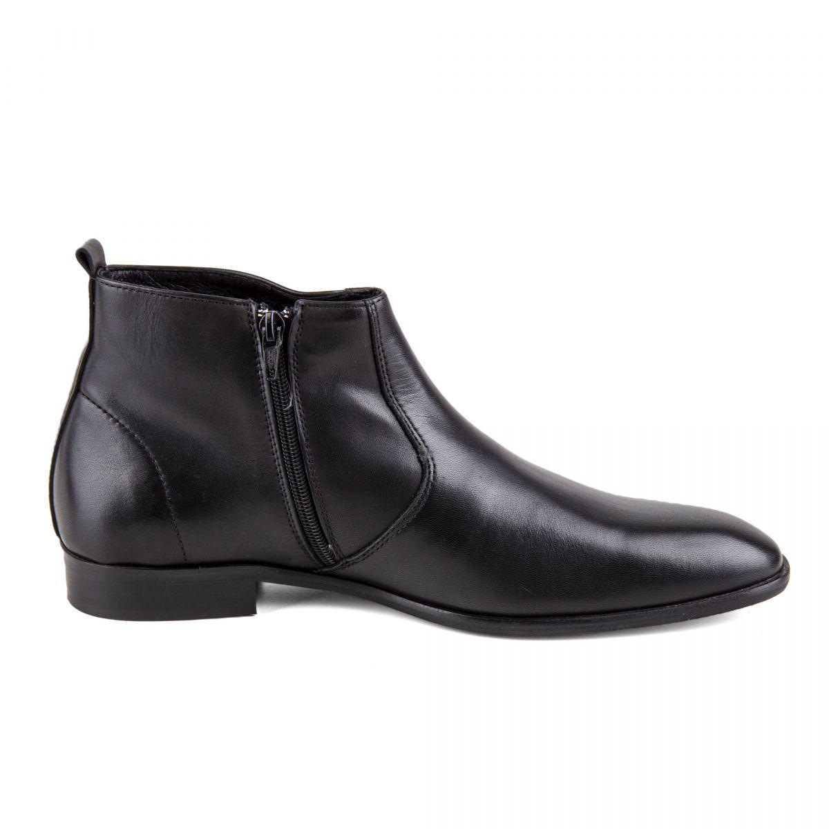 b1b32fbac08 ... Chaussures Bottines noires cuir Mars Homme PIERRE CARDIN marque pas  cher prix dégriffés destockage ...