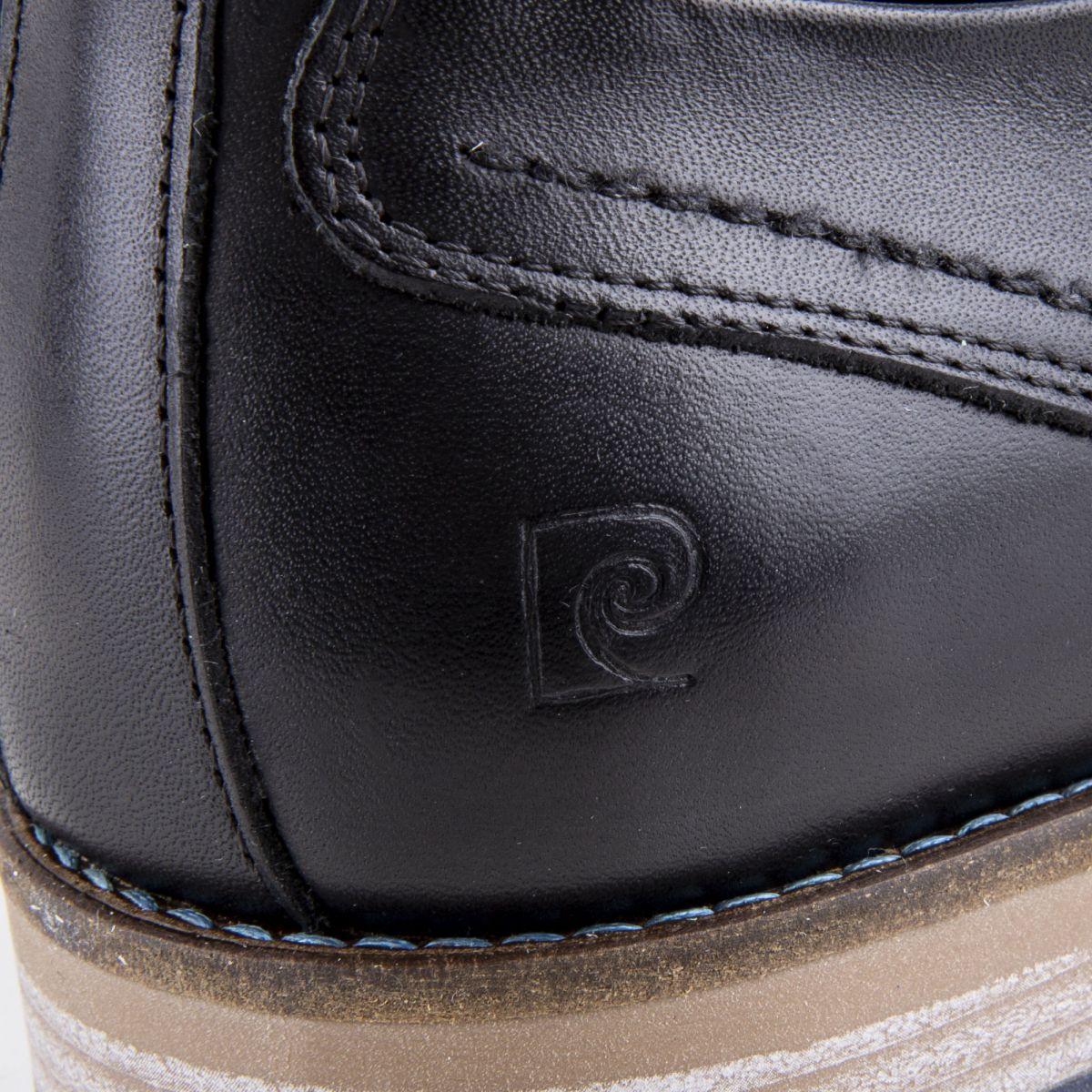 66b5032f897 ... Chaussures derbies noires cuir Homme PIERRE CARDIN marque pas cher prix  dégriffés destockage ...