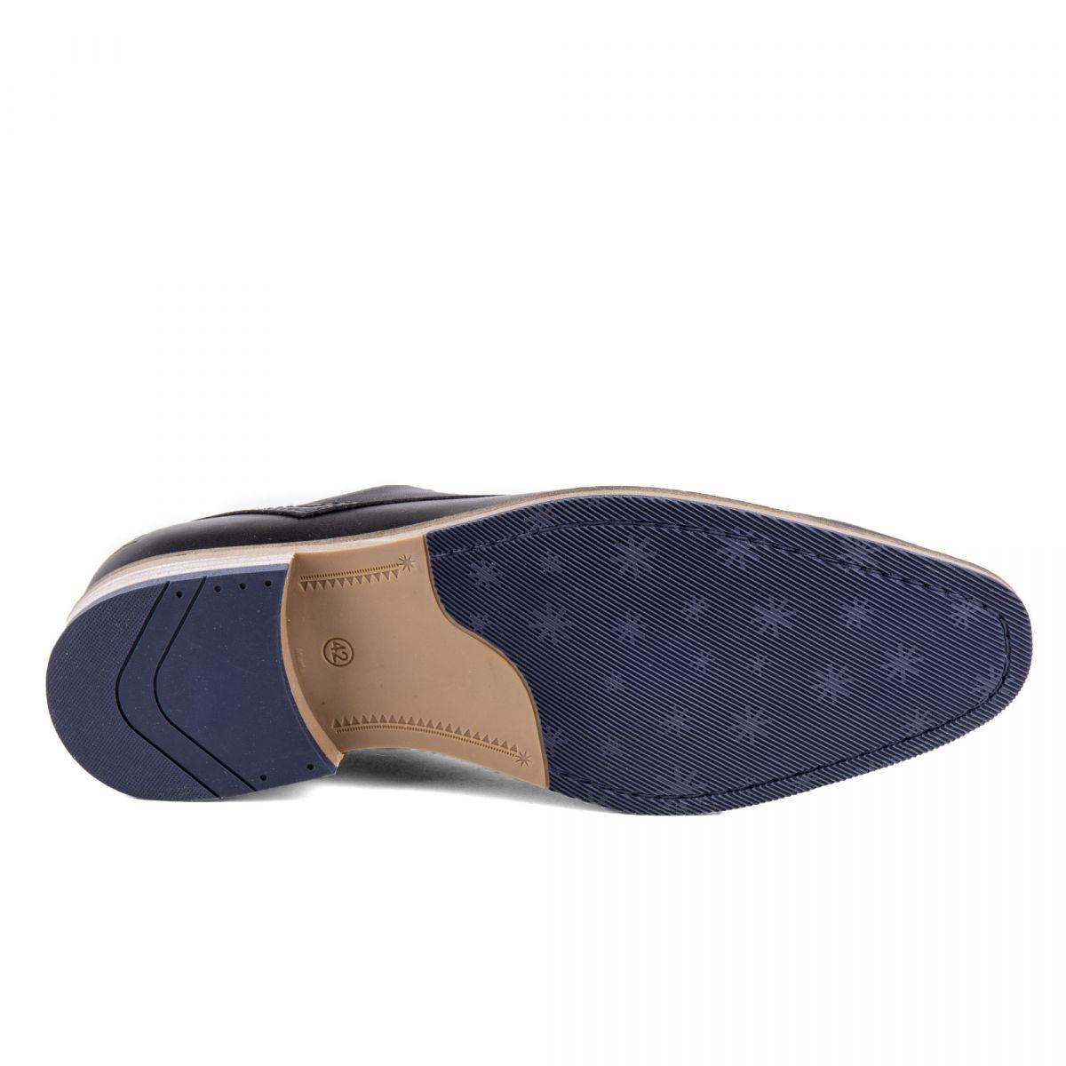 9d61a380cee ... Chaussures derbies noires cuir Homme PIERRE CARDIN marque pas cher prix  dégriffés destockage