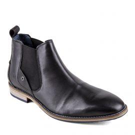Chaussures Bottines noires cuir Homme PIERRE CARDIN marque pas cher prix dégriffés destockage