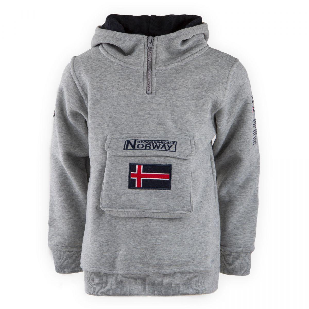 Sweat capuche col zippé Enfant GEOGRAPHICAL NORWAY à prix