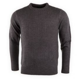 PULL COL ROND T105 GRIS