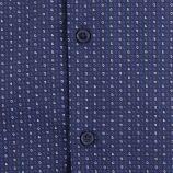 Chemise bleue imprimée slim fit manches longues Homme TORRENTE marque pas cher prix dégriffés destockage