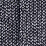Chemise noire slim fit motif fleurs manches longues Homme TORRENTE marque pas cher prix dégriffés destockage