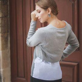 Pull chemise gris Femme DDP marque pas cher prix dégriffés destockage