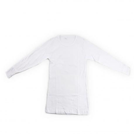 Tee shirt blanc thermo chaleur manches longues Homme AZERTEX marque pas cher prix dégriffés destockage