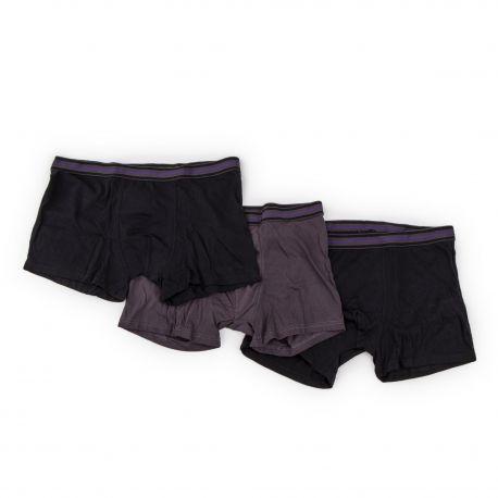 Lot de 3 boxers unis coton homme AZERTEX marque pas cher prix dégriffés destockage